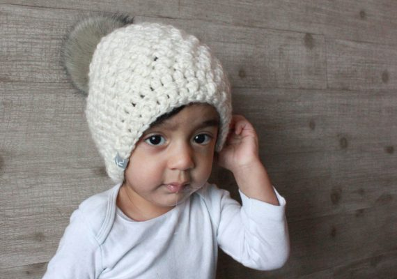 Bailey Beanie with Faux Fur Pom